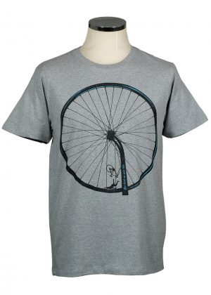 Back on your bike t shirt grey