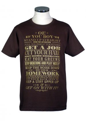 Oi You Boy typography t shirt