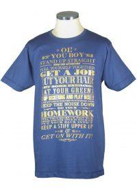 Io You Boy typography t shirt