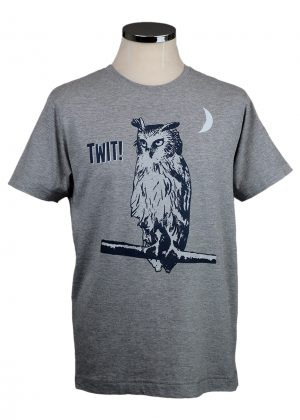 Owl Twit t shirt Department of Works